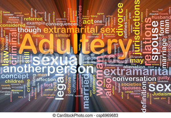 Adultery background concept glowing - csp6969683