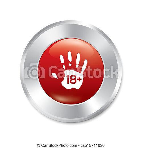 adulti, isolated., età, button., dia solamente, limit. - csp15711036
