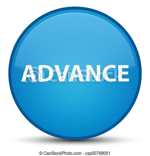 Advance special cyan blue round button - csp50768051