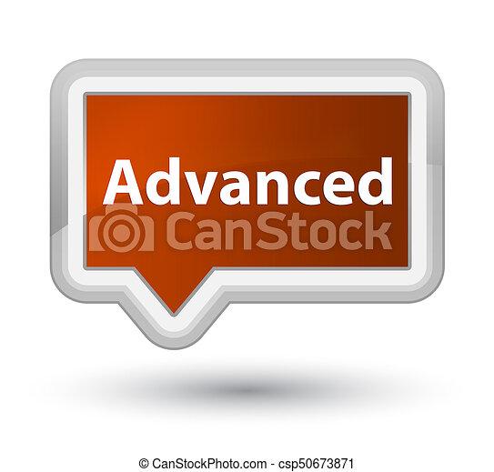 Advanced prime brown banner button - csp50673871