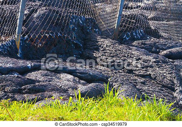 Advancing lava flow - csp34519979