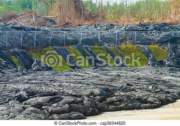Advancing lava flow - csp36344820