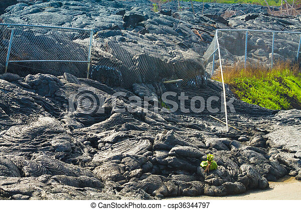 Advancing lava flow - csp36344797