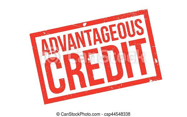 Advantageous Credit rubber stamp - csp44548338