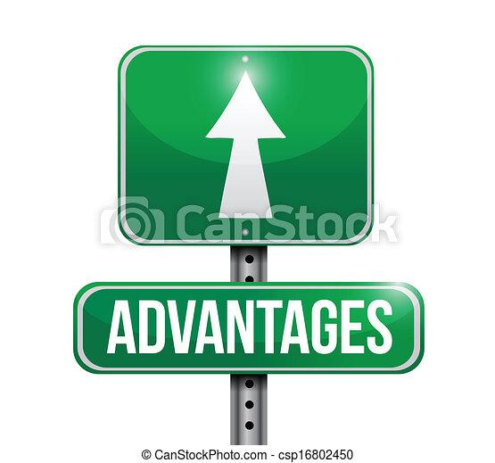 advantages road sign illustration design over a white background