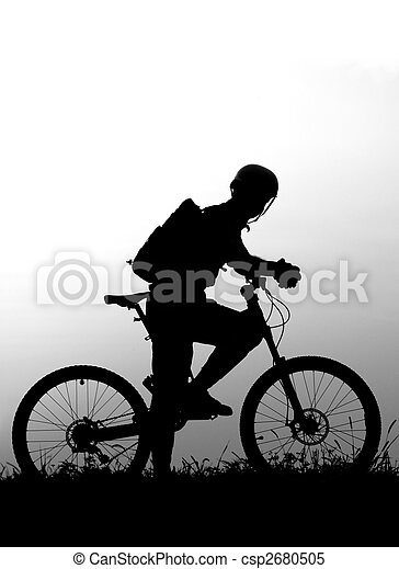 adventure cycling in the nature - csp2680505