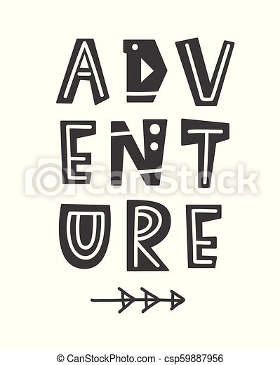 picture relating to Printable Poster Letters identify Experience. Scandinavian structure poster with hand drawn letters