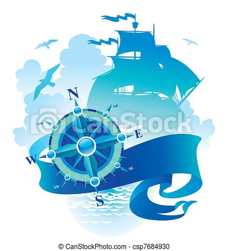 Adventures & travel vector illustration - csp7684930