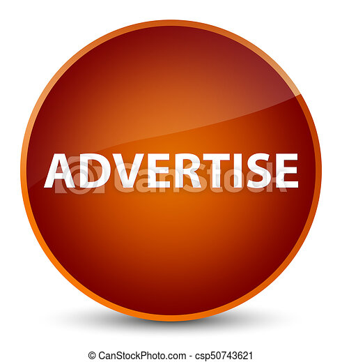 Advertise elegant brown round button - csp50743621