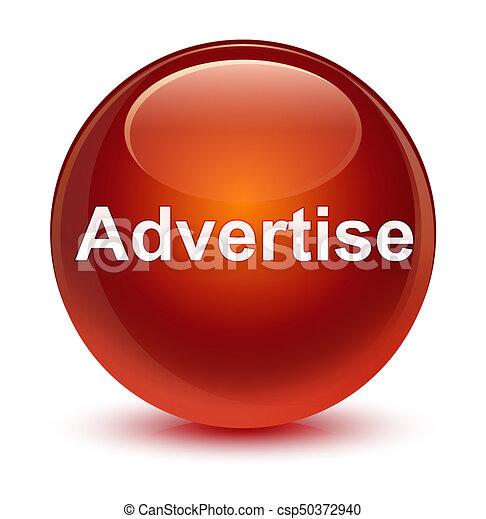 Advertise glassy brown round button - csp50372940