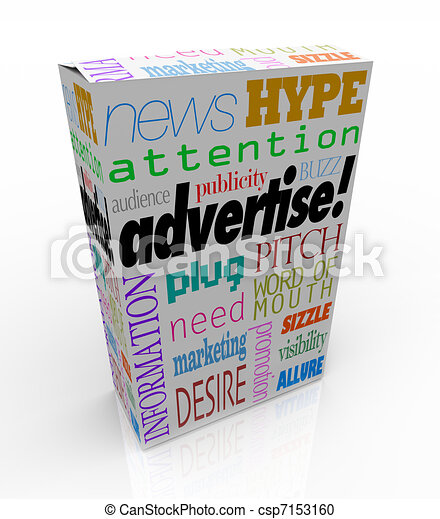 Advertise Marketing Words on Product Box for Sale - csp7153160