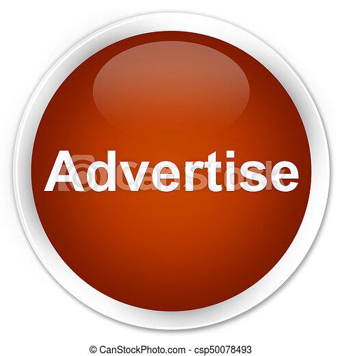 Advertise premium brown round button - csp50078493