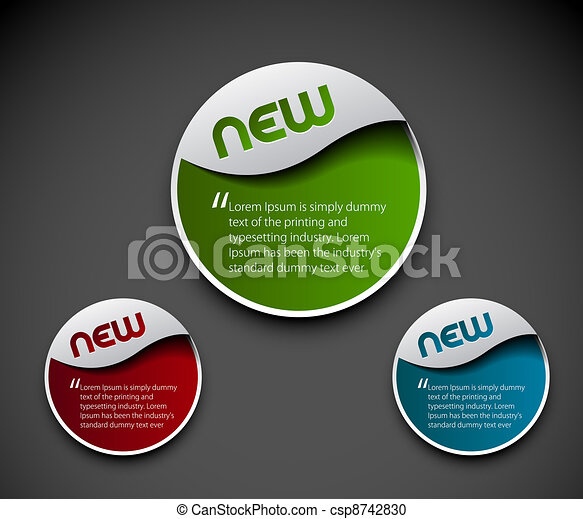 advertisement labels stickers - csp8742830