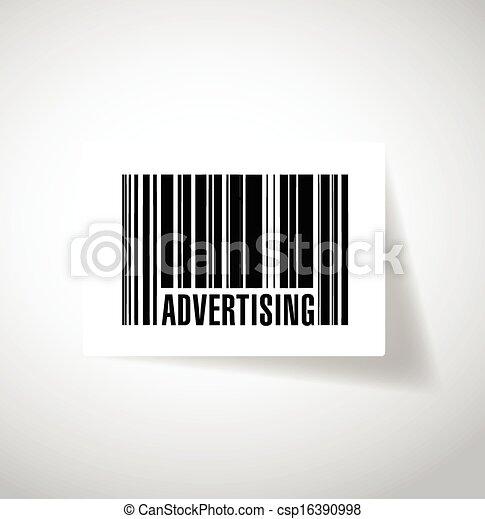 advertising barcode upc. illustration design - csp16390998