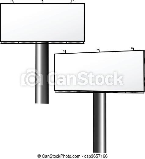 Advertising Billboard - csp3657166