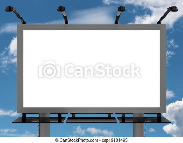 Advertising billboard - csp19101495
