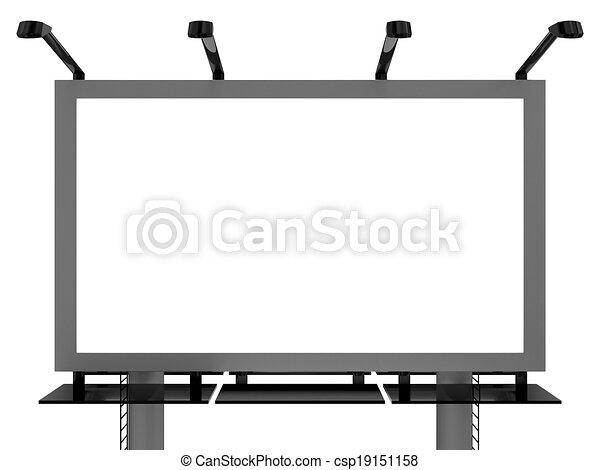Advertising billboard - csp19151158