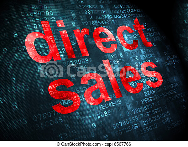 advertising concept direct sales on digital background advertising