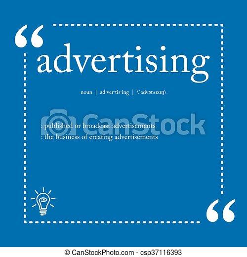 Advertising definition - csp37116393