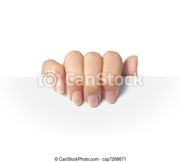 Advertising. hand hold on a paper - csp7268671