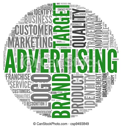 Advertising related words in tag cloud - csp9493849