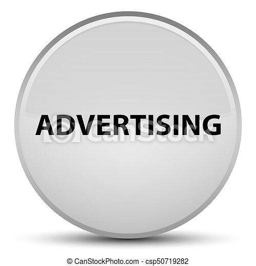 Advertising special white round button - csp50719282