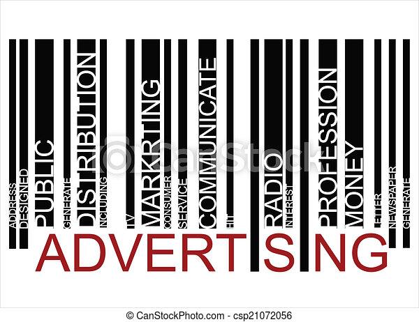 ADVERTISING  text bar-code - csp21072056