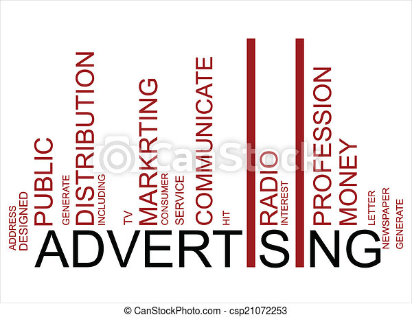 ADVERTISING  text bar-code - csp21072253