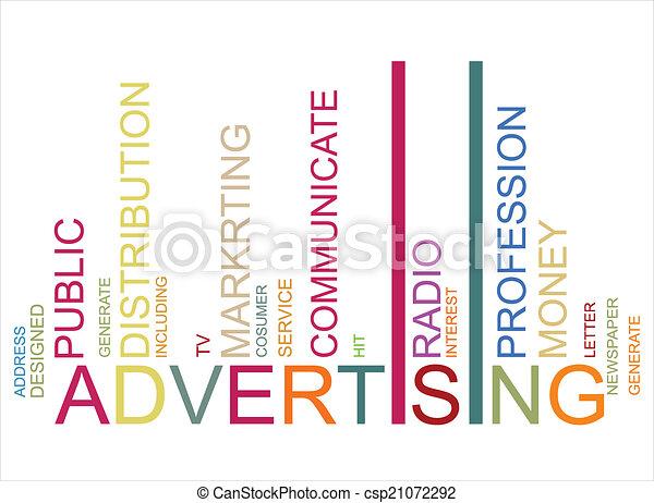 ADVERTISING  text bar-code - csp21072292