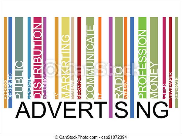 ADVERTISING  text bar-code - csp21072394