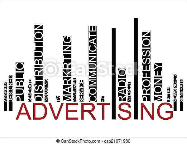 ADVERTISING  text bar-code - csp21071980