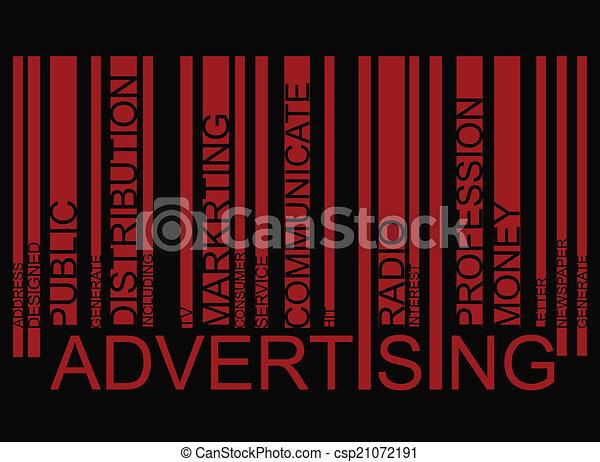 ADVERTISING  text barcode - csp21072191