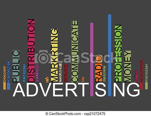 ADVERTISING  text barcode - csp21072475