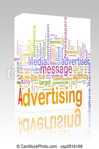 Advertising word cloud box package - csp2916168