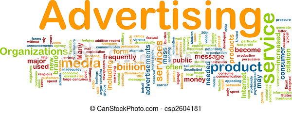 Advertising word cloud - csp2604181