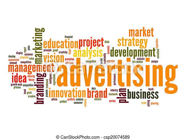 Advertising word cloud - csp20074589