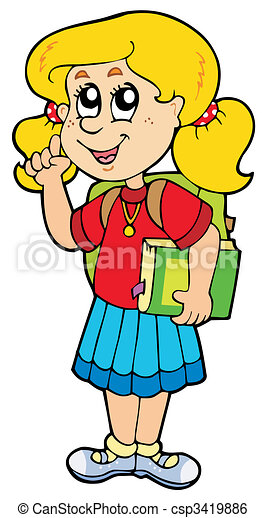 Advising school girl - csp3419886