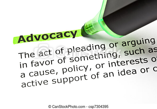 ADVOCACY highlighted in green - csp7304395