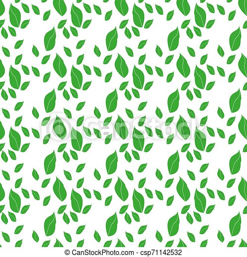 Aepeating pattern of arugula leaves on a light background Made in cartoon flat style. - csp71142532