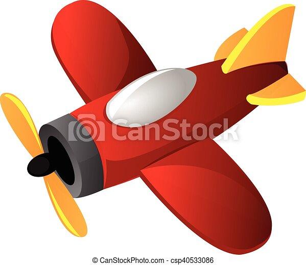 Aereo rosso giallo cartone animato