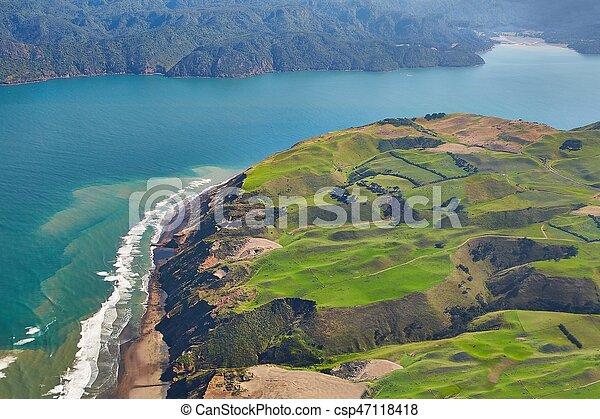Aerial coastal landscape - csp47118418