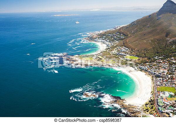 aerial coastal view of Cape Town - csp8598387
