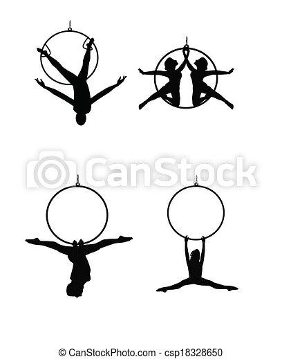 aerial dancers - csp18328650