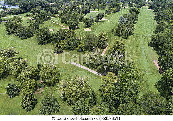 Aerial Golf Course View - csp53573511