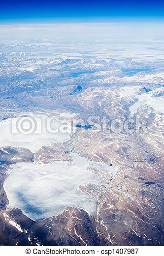 Aerial of Baffin Islands - csp1407987
