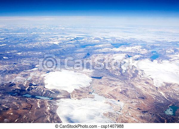 Aerial of Baffin Islands - csp1407988
