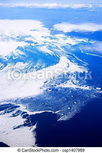 Aerial of Baffin Islands - csp1407989