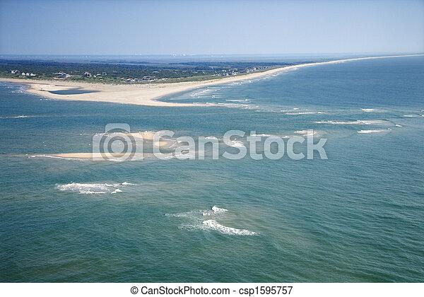 Aerial of island. - csp1595757