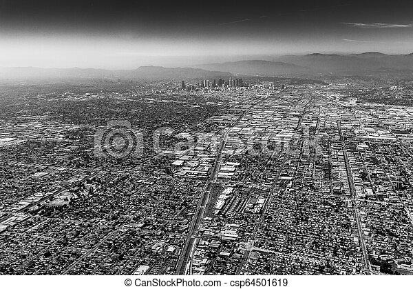 aerial of Los Angeles - csp64501619