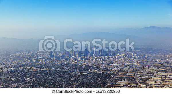 aerial of Los Angeles - csp13220950